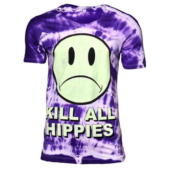 tričko pánské DISTURBIA - No Wave Hippy - Purple - 028