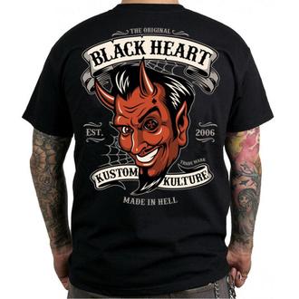 tričko pánské BLACK HEART - LUCIFER - BLACK, BLACK HEART