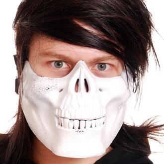 maska POIZEN INDUSTRIES - Skull Mask - White, POIZEN INDUSTRIES