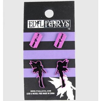 náušnice EVIL FAIRYS - EFES1 - Fairy & Razorblade - Purple