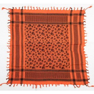 šátek ARAFAT - palestina - lebka 21 - oranžová