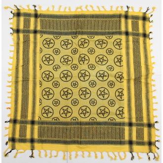 šátek ARAFAT - palestina - pentagram 4 - žlutá