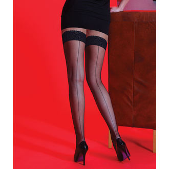 punčocháče LEGWEAR - Scarlet - BKSEAM Fishnet LT Hups, LEGWEAR