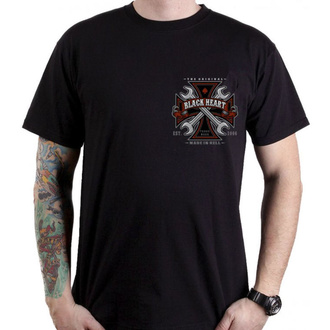 tričko pánské BLACK HEART - REPAIRMAN - BLACK, BLACK HEART