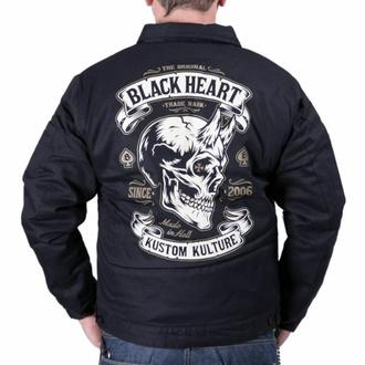 bunda pánská BLACK HEART - DEVIL SKULL - BLACK, BLACK HEART