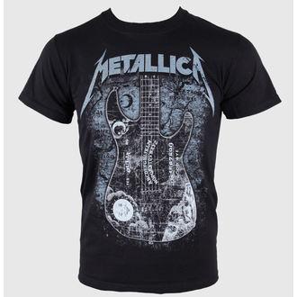 tričko pánské Metallica - Kirk Ouija board Guitar - Black - RTMTLTSBHAM