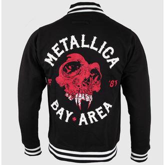 mikina pánská Metallica - Bay Area Skull - Black - RTMTLVJBAY