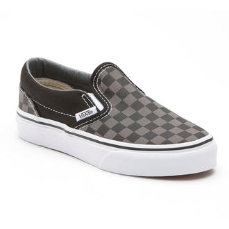 boty VANS - Classic Slip-on - Black/Pewter Checkerboard - VN000EYEBPJ