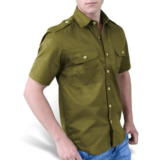 košile SURPLUS - 1/2 Plain Summer - Oliv, SURPLUS