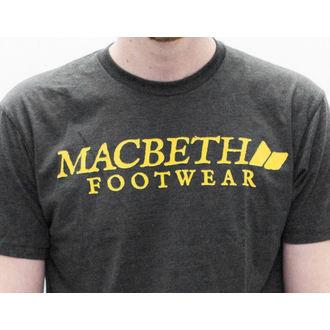 tričko pánské MACBETH - Vintage Logo - Heather Charcoal Classic