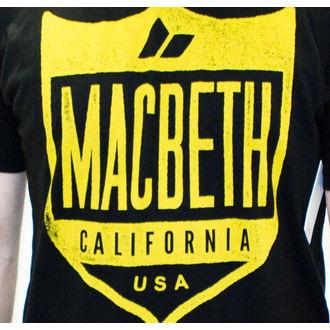 tričko pánské MACBETH - Crest - Black Classic