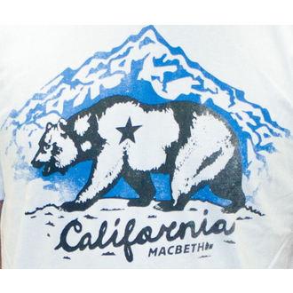tričko pánské MACBETH - California - White Classic