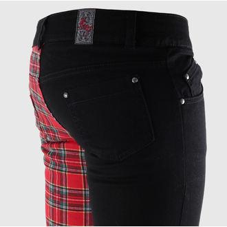 kalhoty dámské 3RDAND56th - Tartan Split Skinny - JM1141