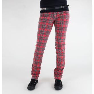 kalhoty dámské 3RDAND56th - Tartan Skinny -JM523 - RED