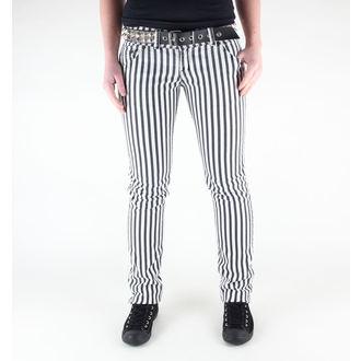 kalhoty dámské 3RDAND56th - Stripe Skinny - JM444 - BLK-WHITE