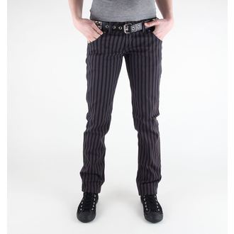 kalhoty dámské 3RDAND56th - Stripe Skinny - JM444 - BLK-GRAY