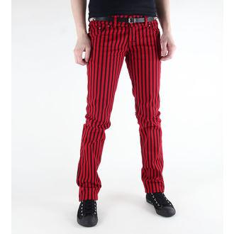 kalhoty dámské 3RDAND56th - Stripe Skinny - JM444 - BLK-RED