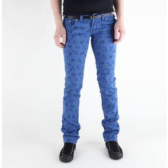 kalhoty dámské 3RDAND56th - Swallow Skinny Jeans - JM1118 - ROYAL