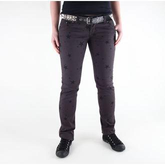 kalhoty dámské 3RDAND56th - Star Skinny Jeans - JM1097 - GREY