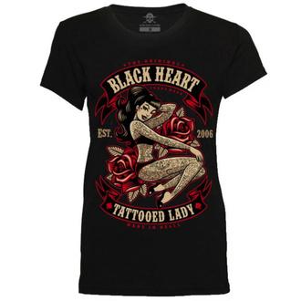 tričko dámské BLACK HEART - TATTOED LADY - BLACK - 010-0138-BLK