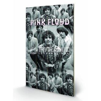 dřevěný obraz Pink Floyd - Piper - Pyramid Posters, PYRAMID POSTERS, Pink Floyd