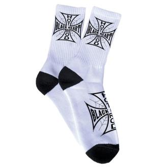 ponožky BLACK HEART - Chopper Cross - White - 021-0013-WHT