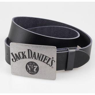 pásek Jack Daniels - Metal Buckle - Black, JACK DANIELS