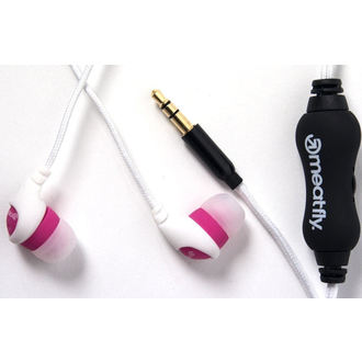 sluchátka MEATFLY - Jimmy Earphones C - White/Pink