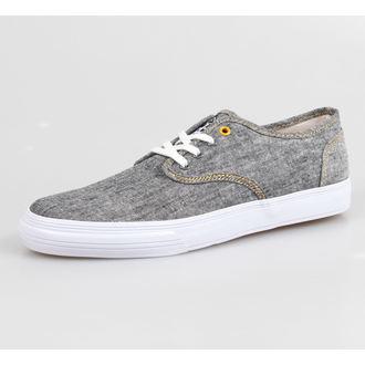 boty pánské IRON FIST - The Winston Vucanized Sneaker - Charcoal Grey Chambray/White