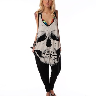 overal dámský IRON FIST - Loose Tooth Romper - Black, IRON FIST