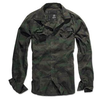 košile pánská BRANDIT - Men Shirt Slim - Woodland