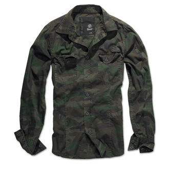 košile pánská BRANDIT - Men Shirt Slim - Woodland, BRANDIT