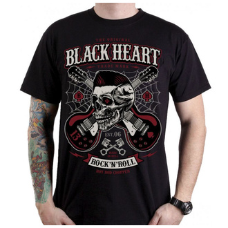 tričko pánské BLACK HEART - ROCKABILLY BOY - BLACK, BLACK HEART