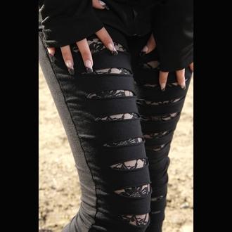 kalhoty dámské (leginy) VIXXSIN - Slasher - Black - POI079