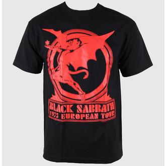 tričko pánské Black Sabbath - Europe 75 Tour - BRAVADO - 34191007