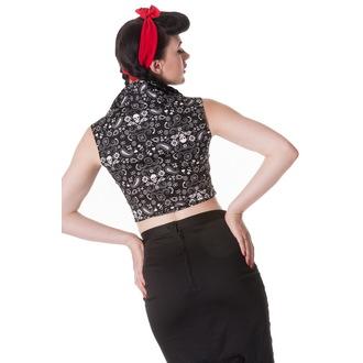 košile (vesta) dámská HELL BUNNY - Bandana - BLK, HELL BUNNY