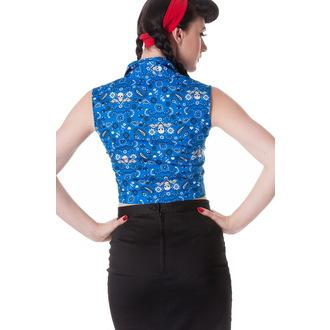 košile (vesta) dámská HELL BUNNY - Bandana - Blu, HELL BUNNY