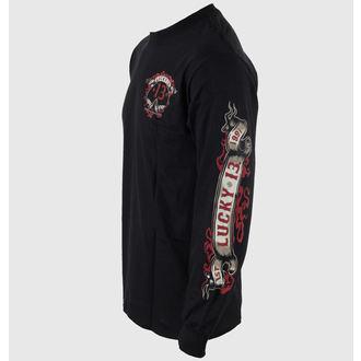 tričko pánské s dlouhým rukávem LUCKY 13 - Motor Skull