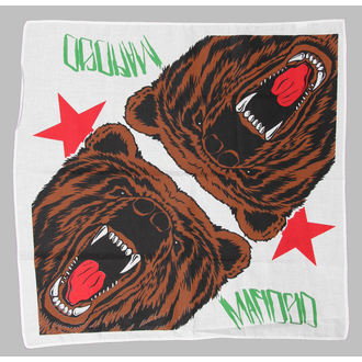 šátek MAFIOSO - Cali Bear - White, MAFIOSO