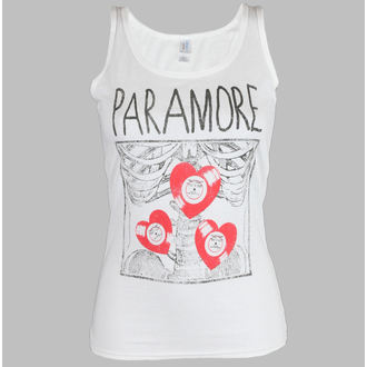 tílko dámské Paramore - X Ray White - LIVE NATION, LIVE NATION, Paramore