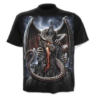 tričko pánské SPIRAL - Dragon Lava - Black - L014M101