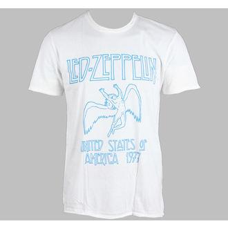 tričko pánské AMPLIFIED - Led Zeppelin - 77 - White - ZAV210LZ7