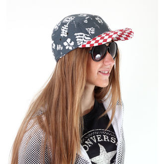 kšiltovka VANS - Davis 5 Panel Camper Hat - Red Check/Navy Aloha - VUM29CO
