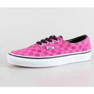 boty dámské VANS - U Era - (Xtuff) neon pink/check - VTN98Y4