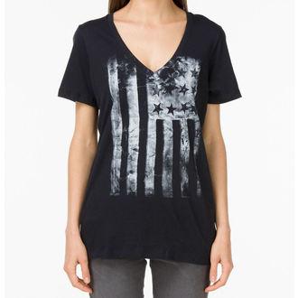 tričko dámské VANS - G Distressed America - Black, VANS