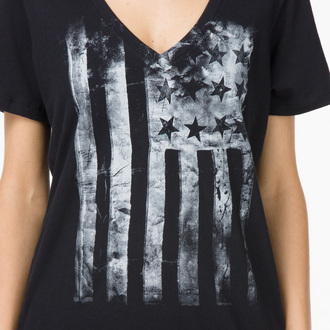 tričko dámské VANS - G Distressed America - Black
