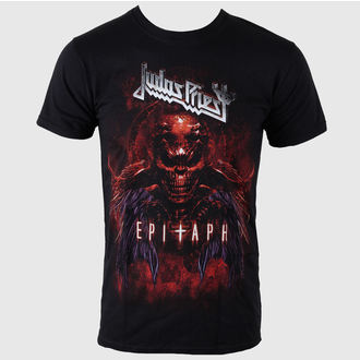 tričko pánské Judas Priest - Epitaph Red Horns - ROCK OFF - JPTEE07MB