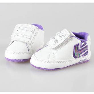 boty dětské ETNIES - Fader Crib - White/White/Lavender