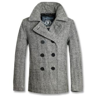 kabát pánský zimní BRANDIT - Pea Coat Anthracite Heringbon, BRANDIT