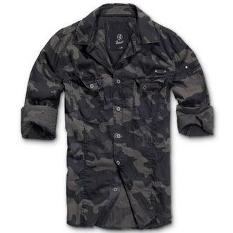 košile pánská BRANDIT - Men Shirt Slim Darkcamo, BRANDIT